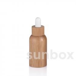 Bouteille en verre de 30ml avec doublure en bambou
