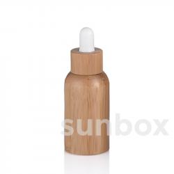 Bouteille en verre de 50ml avec doublure en bambou