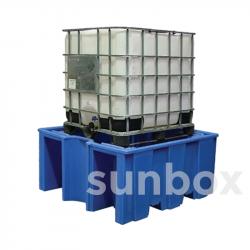 Bac de rétention sans grille pour 1 conteneur 1000L
