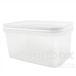 Boîte rectangulaire de 5L blanche avec poignée