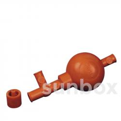 Poire en caoutchouc pour pipette avec 3 valves