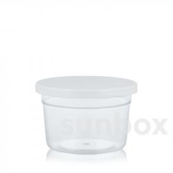 Pot pour échantillons 32ml. Couvercle à pression