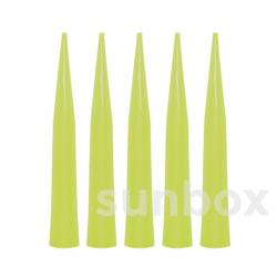 Pointes jetables Gilson ® couleur jaune pour micropipettes automatiques